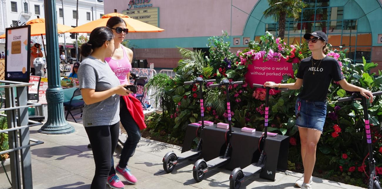 Downtown Santa Monica welcomes you to Park(ing) Day